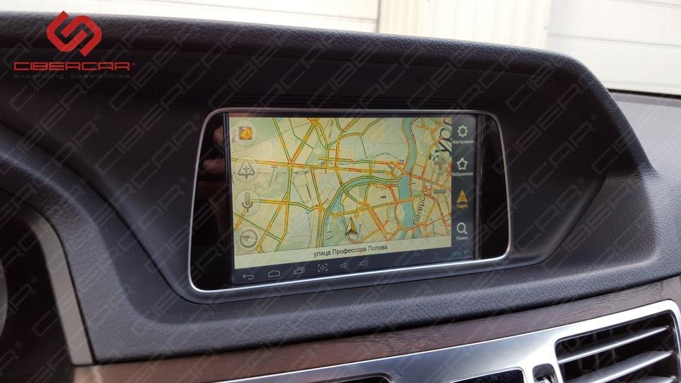Яндекс.Навигатор на штатном мониторе.