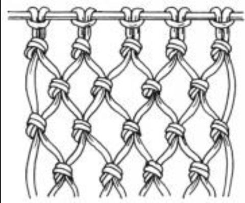Плетение сетки из каната своими руками
