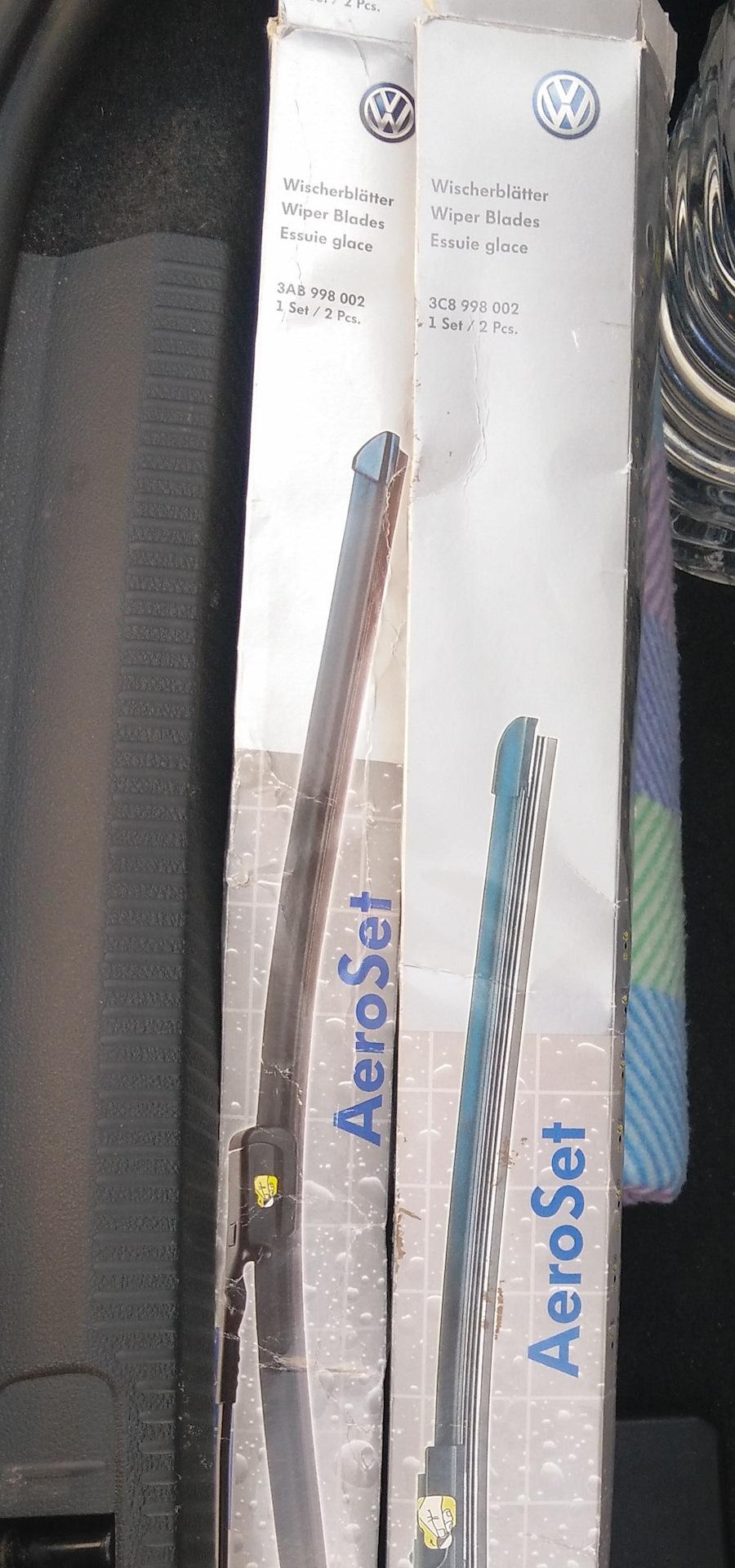 щётки стеклоочистителя фольксваген пассат 2012 года