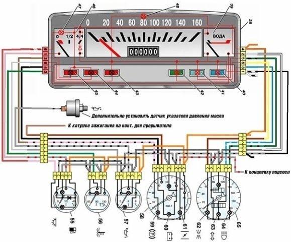 Схема подключения тахометра на ваз 11113