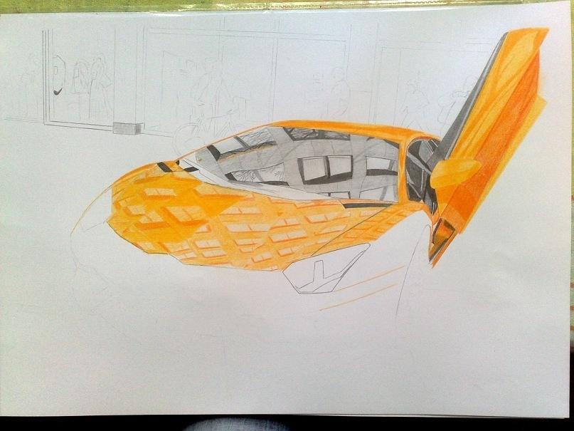 рисунки карандашом ламборджини: