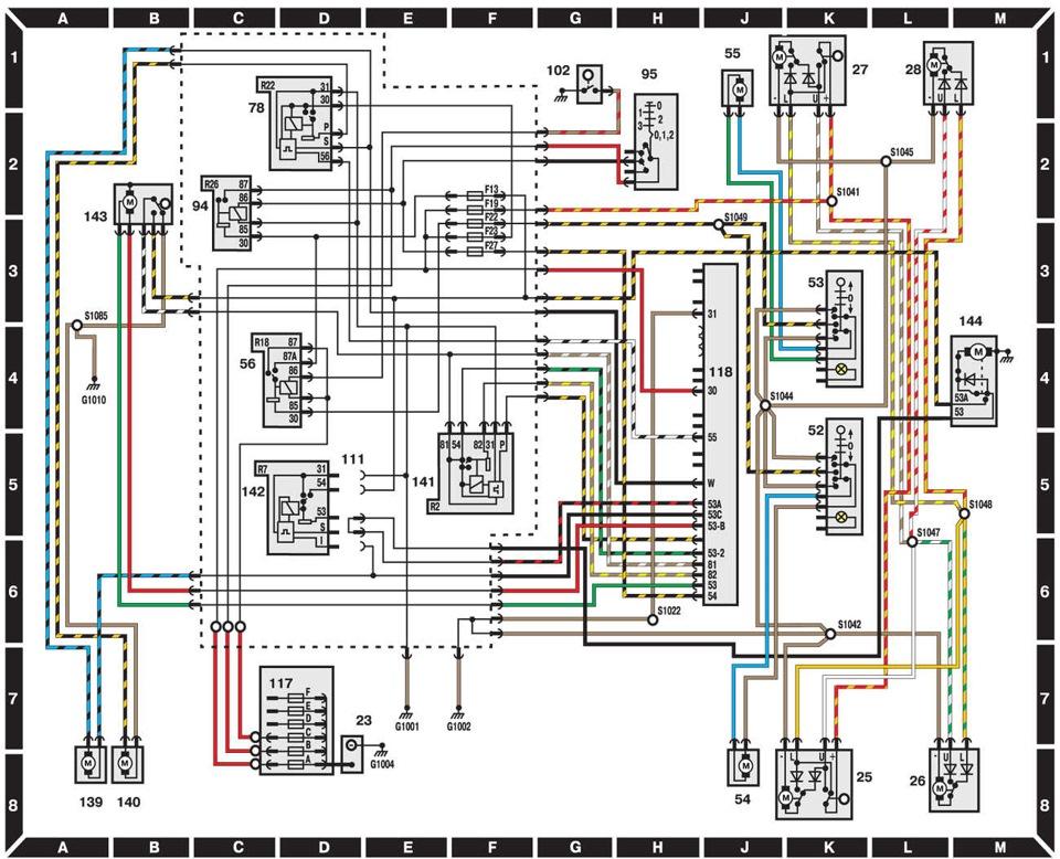 Схема Форд Эскорт (до 1995