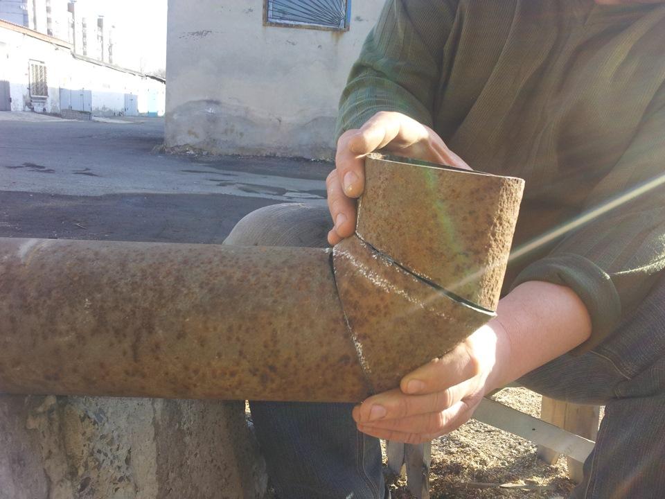 Как сварить трубу под углом 90 градусов