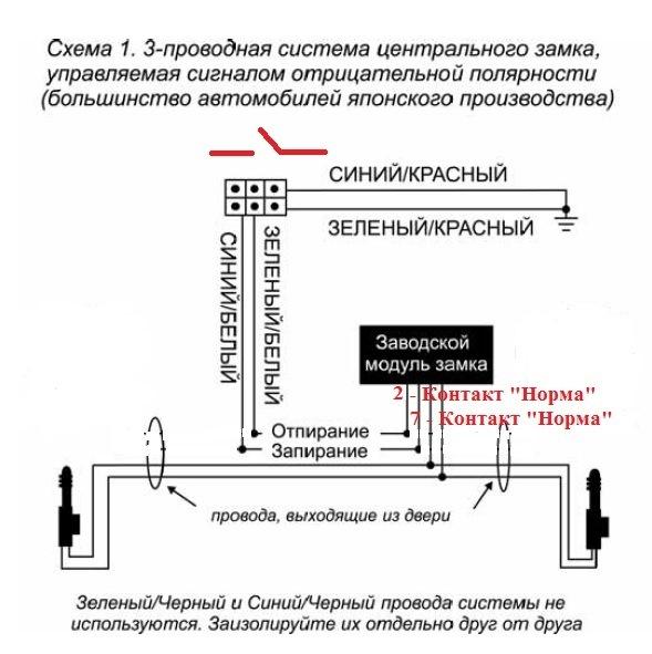 схема центральный замок нива шевроле