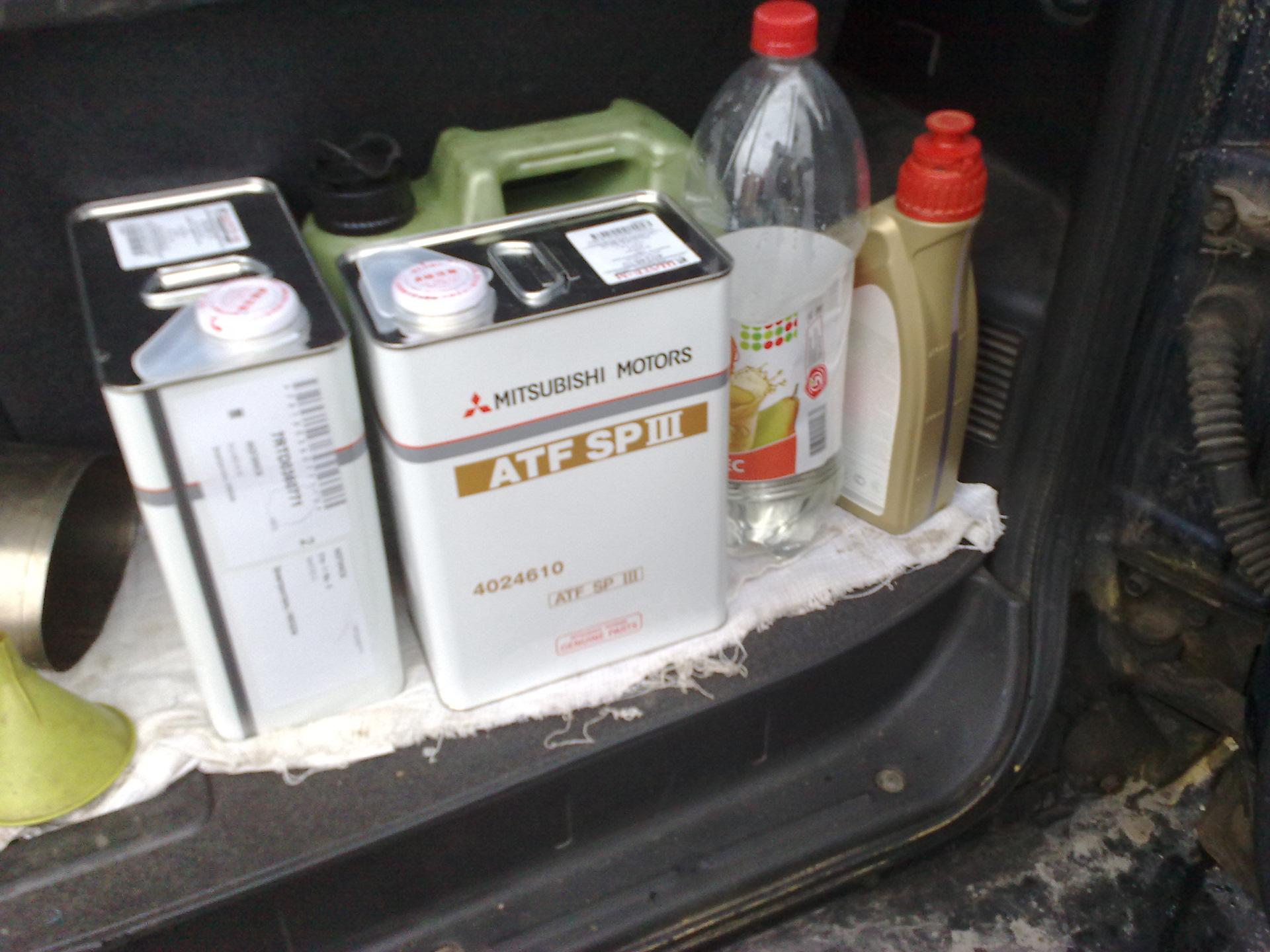 масло в акпп митсубиси паджеро
