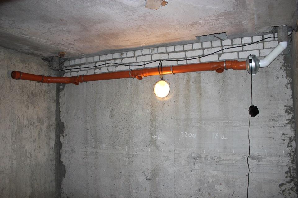 принудительная вентиляция в подвале гаража