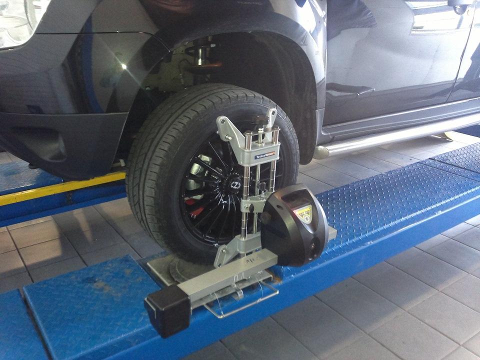 Схождение колес на рено дастер своими руками 54