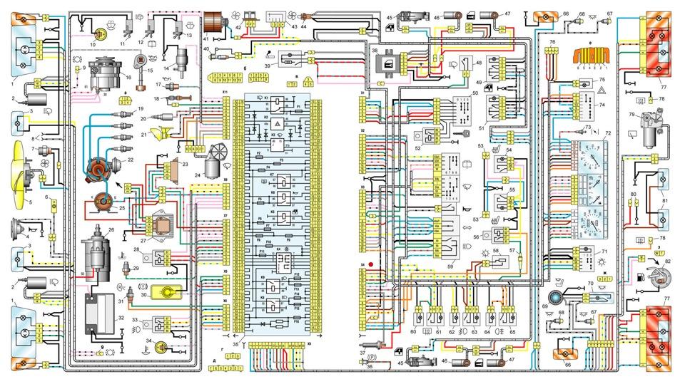 Электросхема ваз 21099 карбюратор высокая панель