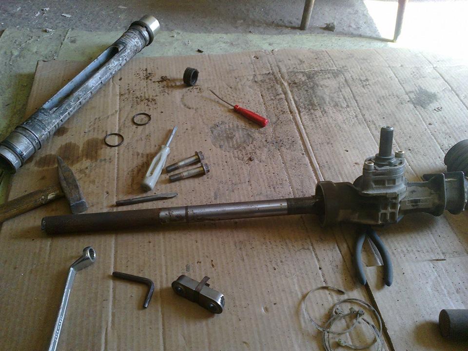 Ремонт рулевой рейки калины своими руками
