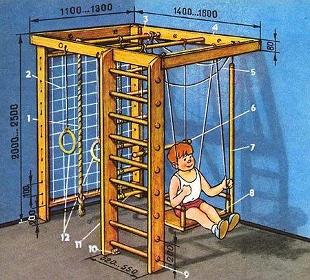 Идеи для выполнения детского спортивного уголка 91