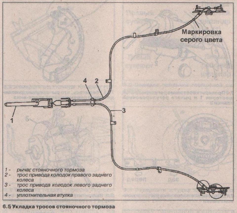 схема ручного тормоза сузуки вагон р