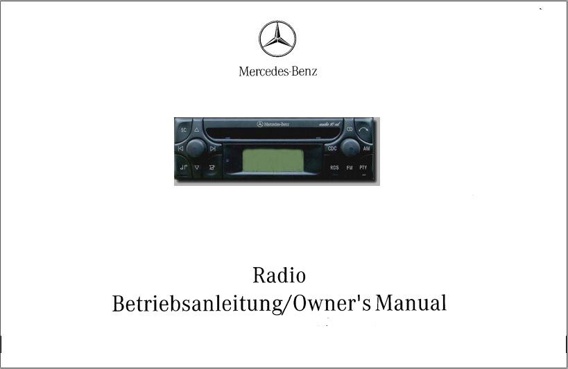 mercedes benz radio owner s manual audio 10 cd alpine mf2910 rh drive2 com mercedes ml350 radio manual mercedes citan radio manual
