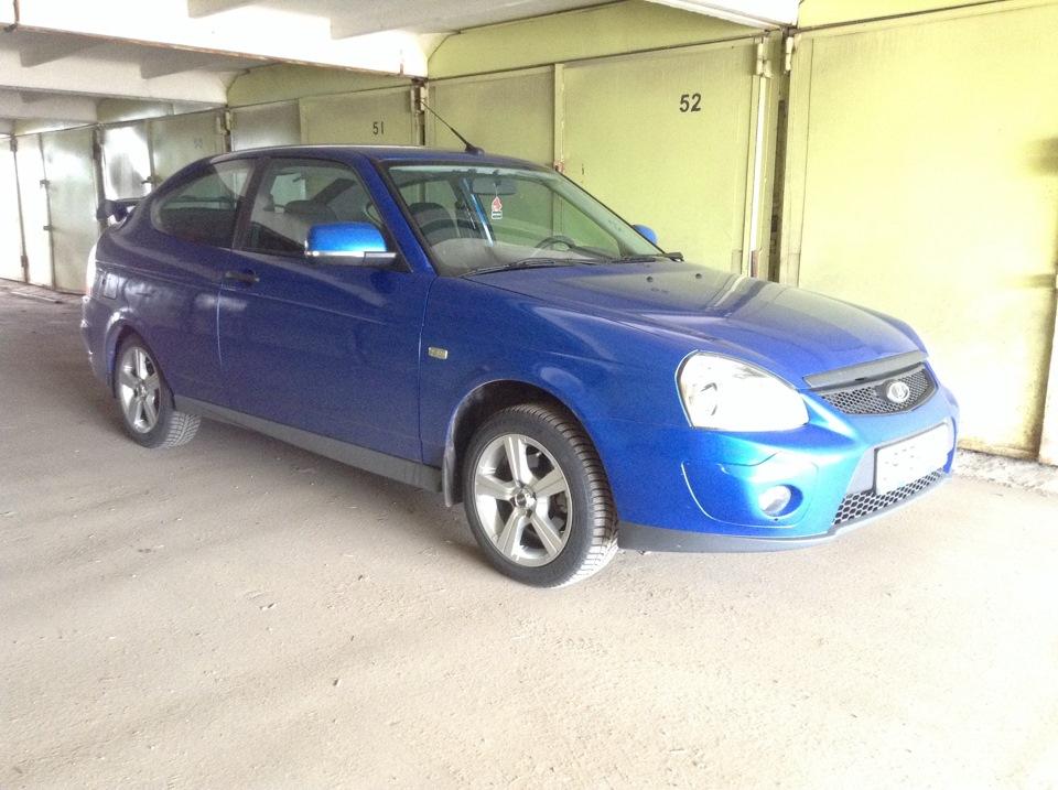 Приора спорт купе синяя фото