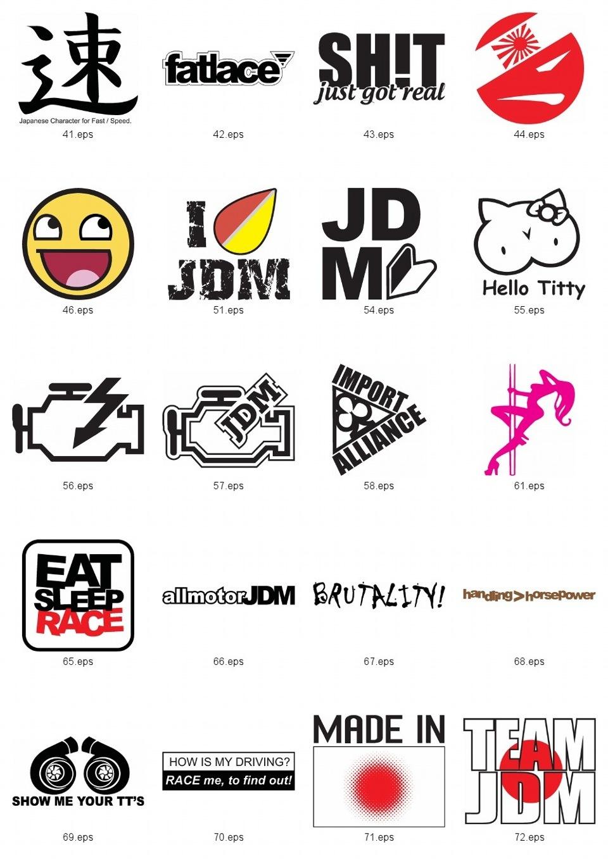 JDM Stickers/