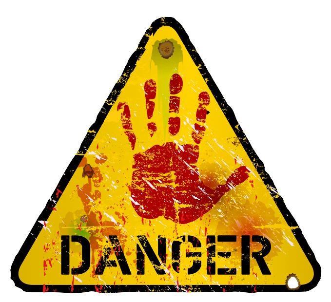 Опасные картинки с надписью, анимацией