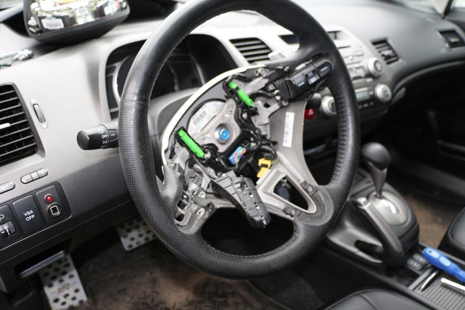 Как снять руль хонда