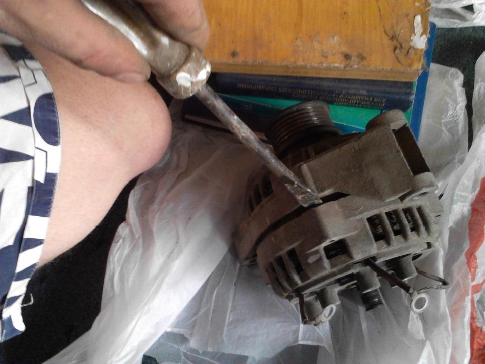 Замена подшипников генератора на ваз 2110 своими руками