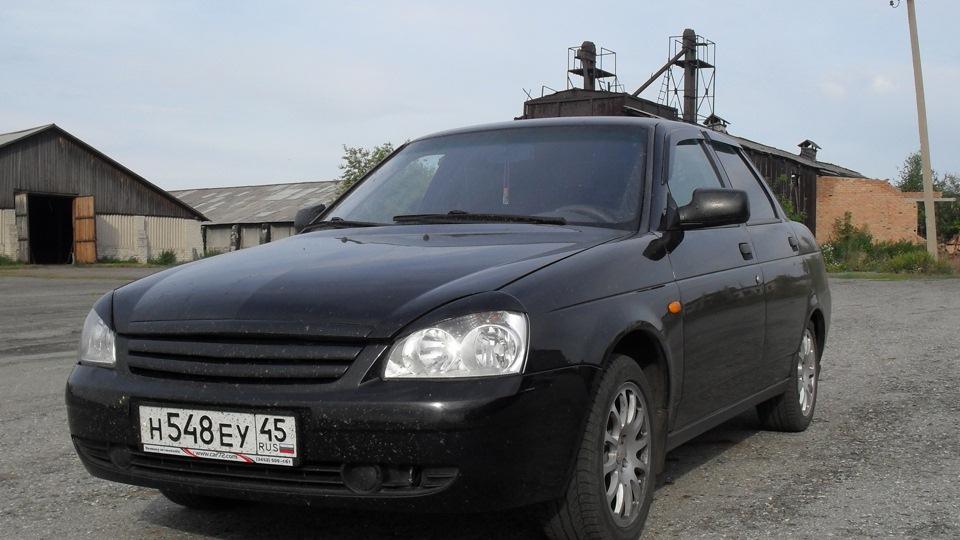 Чёрная приора седан фото