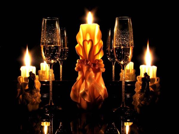 Открытки мы с тобой при свечах, ораза айт