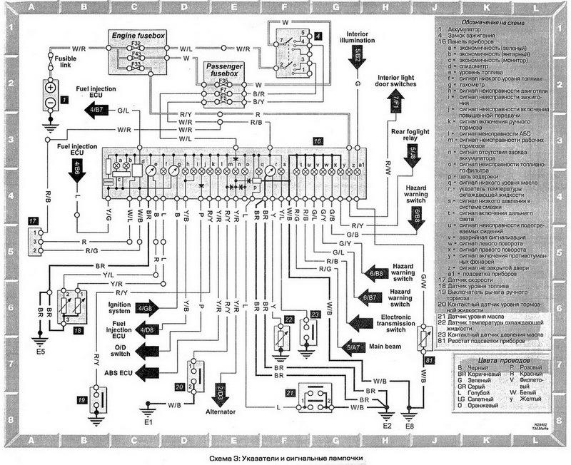 toyota carina электропроводки схемы