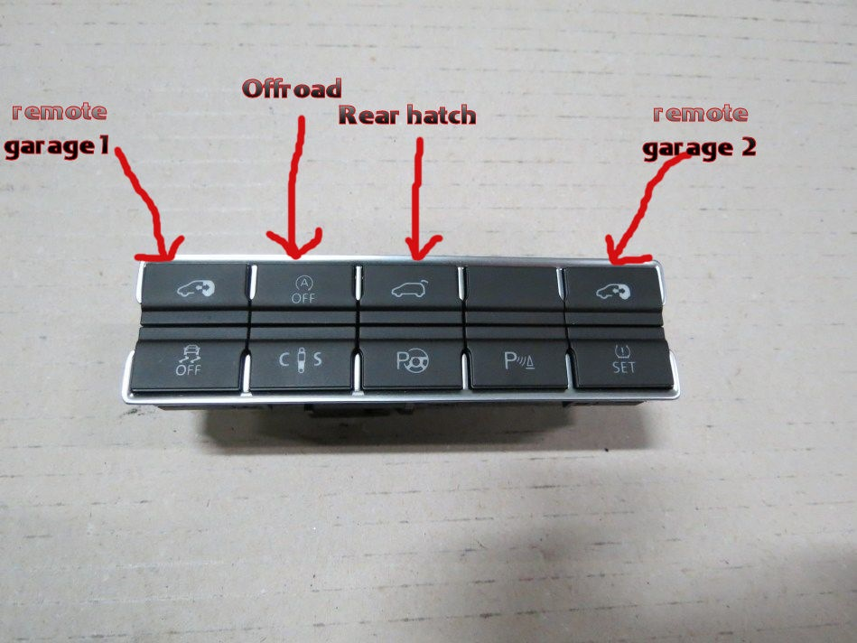 Garage Remote In Middle Buttons бортжурнал Volkswagen