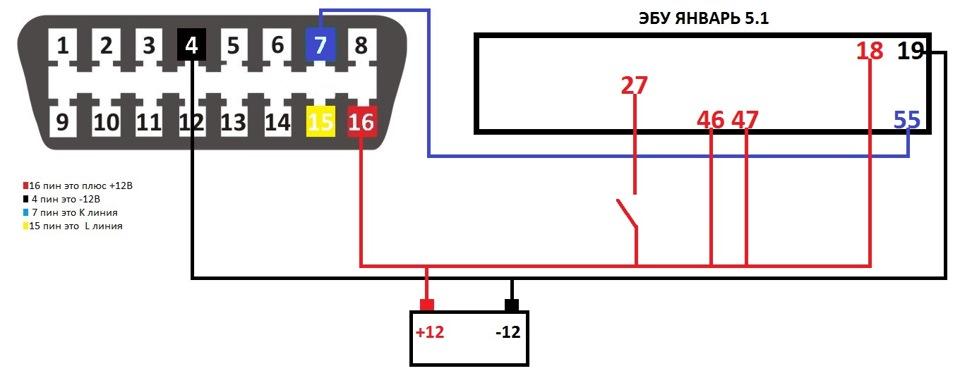Схема программатора для прошивки эбу ваз своими руками