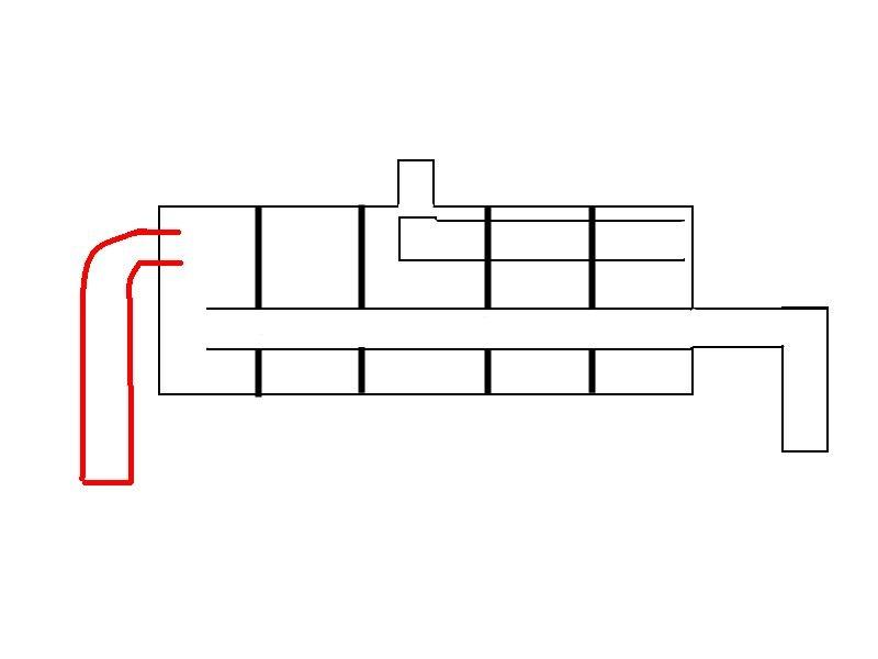 Это схема штатного глушителя.