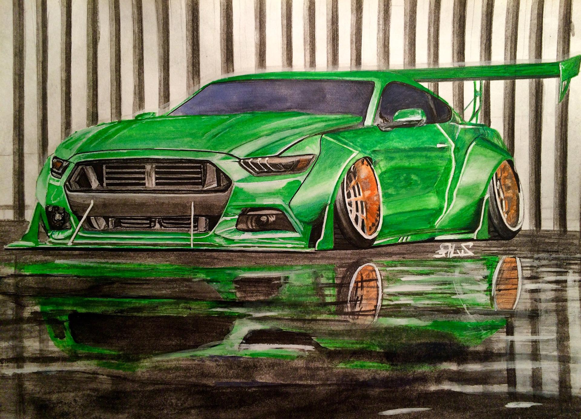 Смотреть картинки нарисованных машин