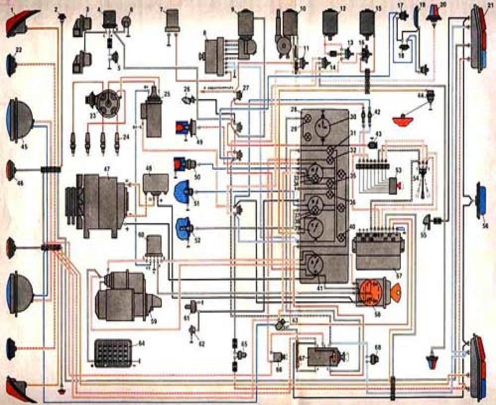 Газ 2410 проводка схема