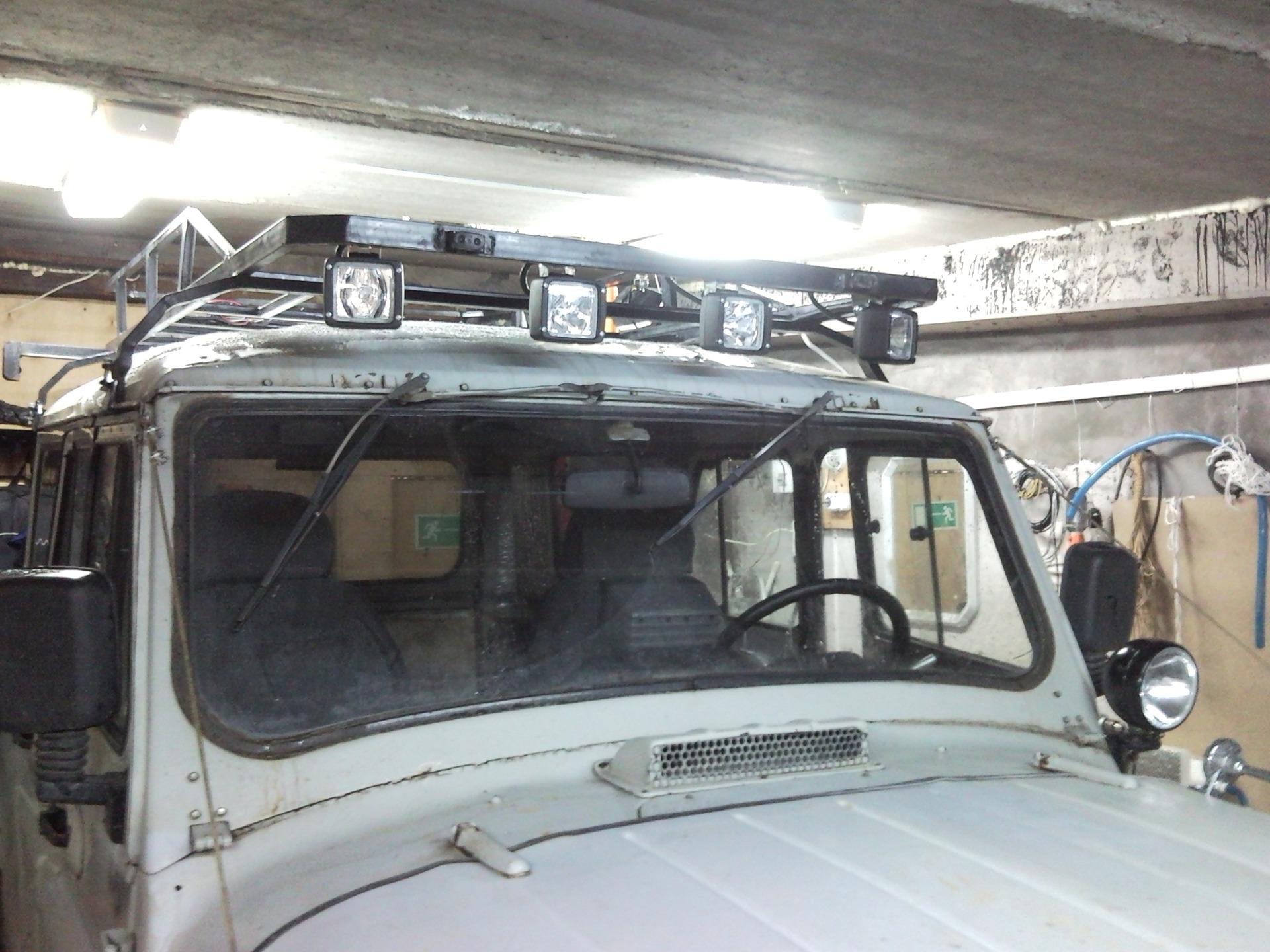Багажник на тентованный уаз 469 своими руками чертежи фото