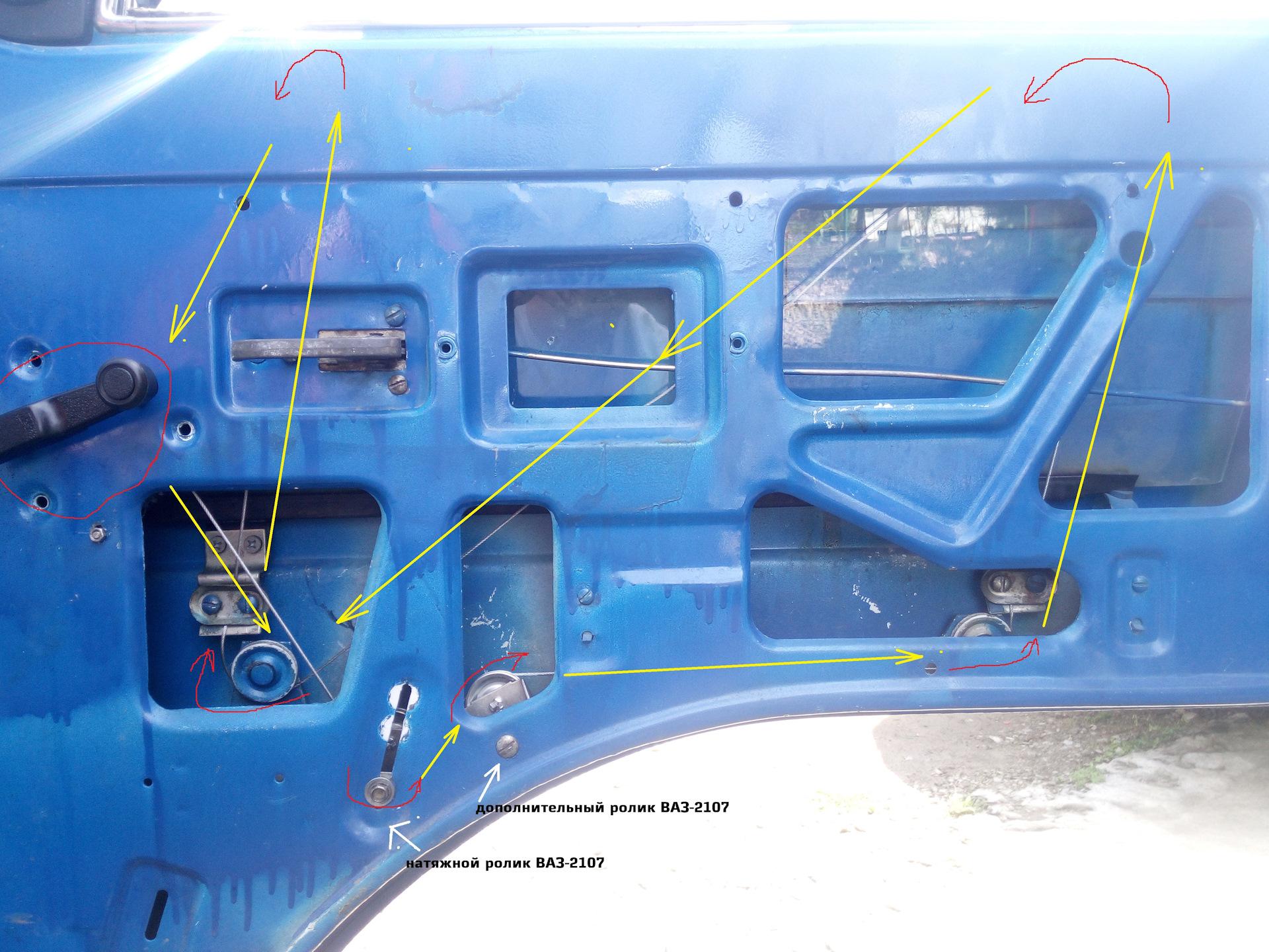 Схема стеклоподъемника ваз 2107 фото