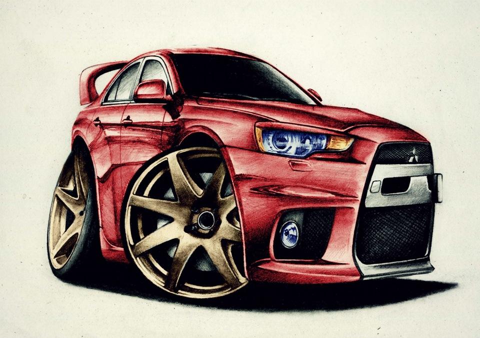 Автомобили рисунки прикольные