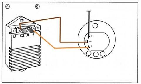 схема подключения тахометра.