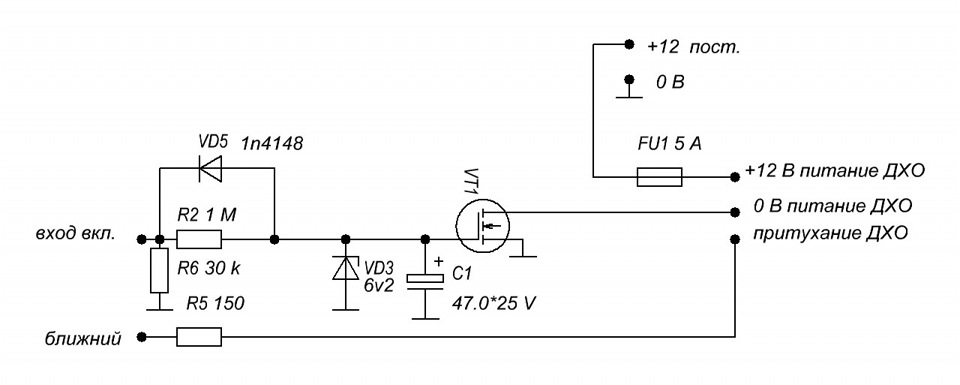 тока заряда конденсатора,