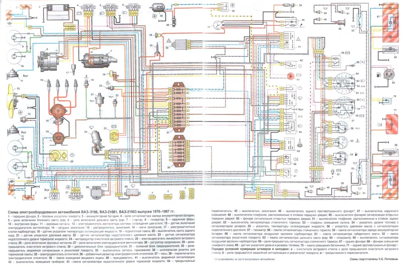 генератор на ваз 2101 схема