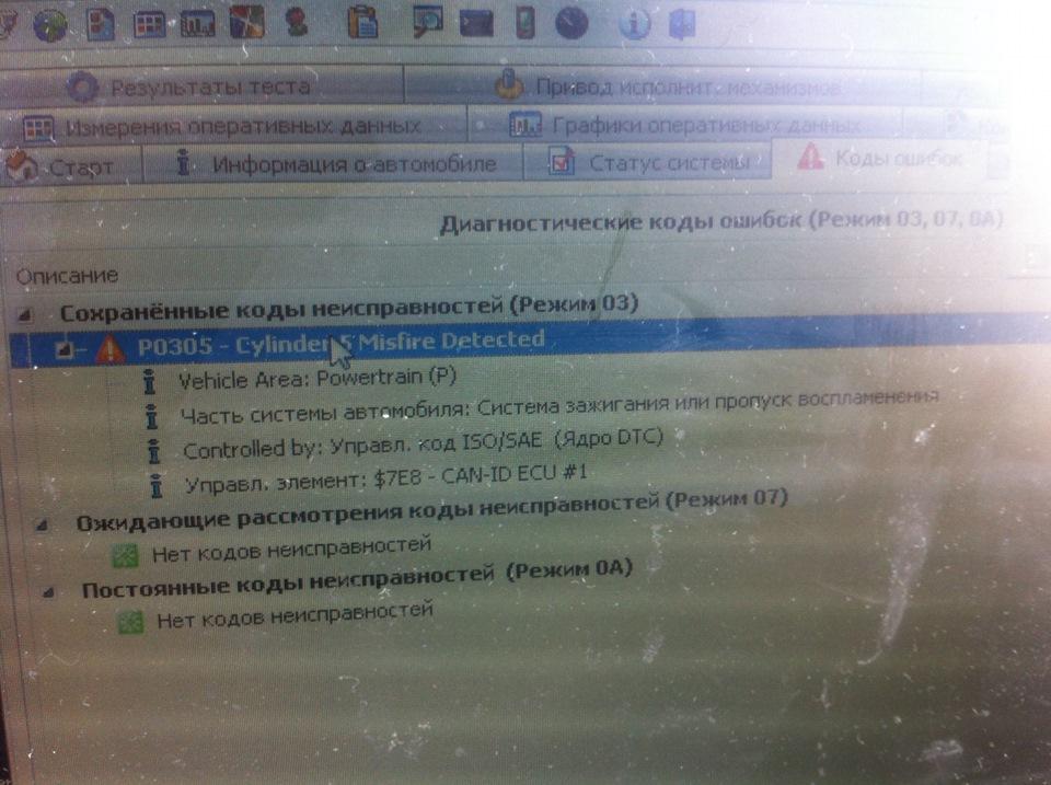 ошибка p0300 hyundai v6