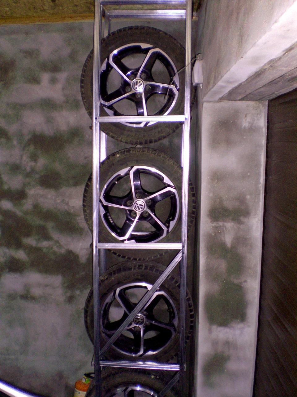 Стеллаж для гаража из профиля своими руками