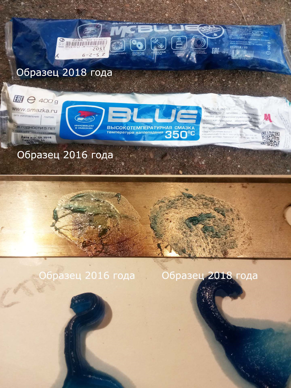 Смазка для подшипников высокотемпературная синяя