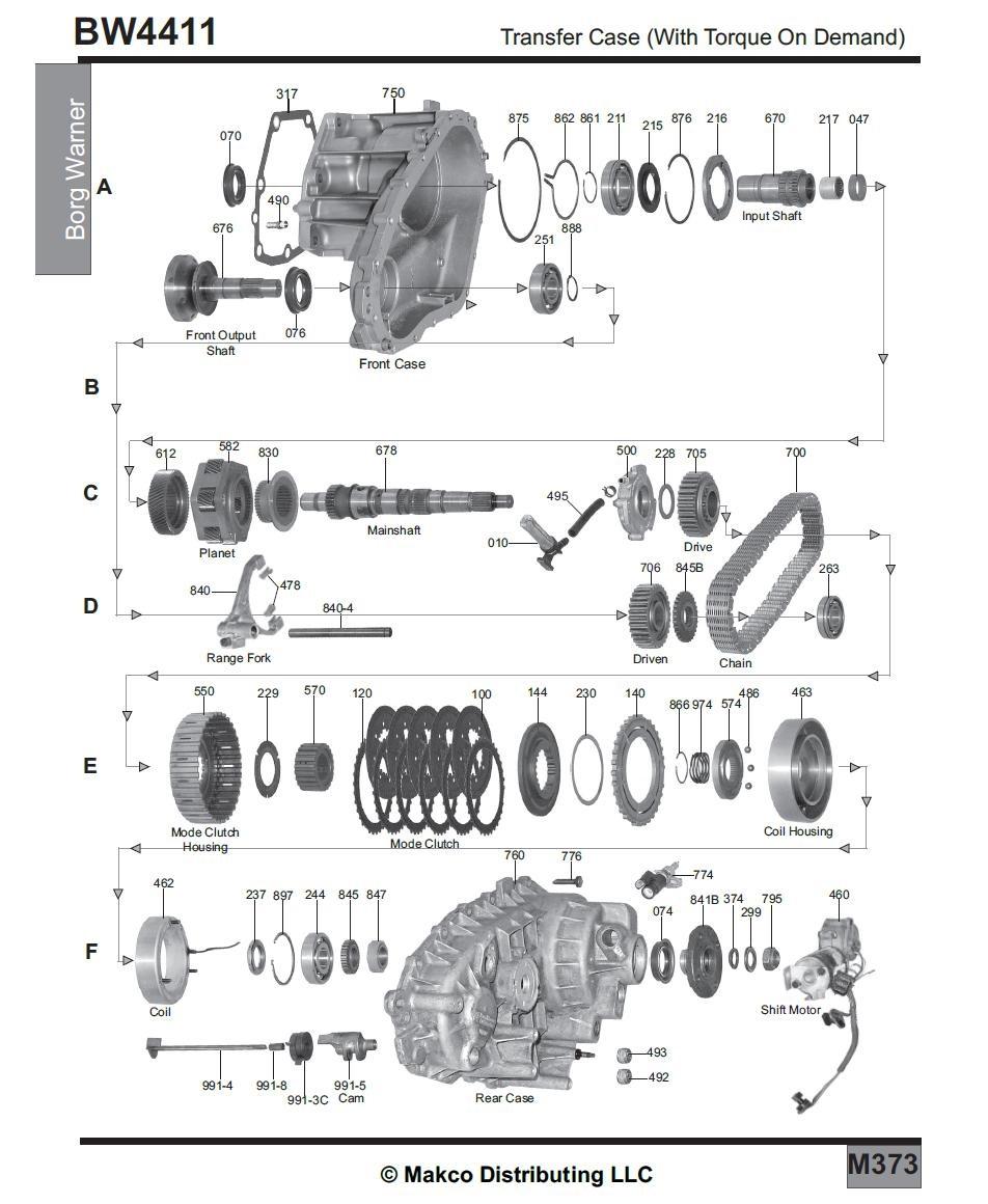 схема передаточной коробки