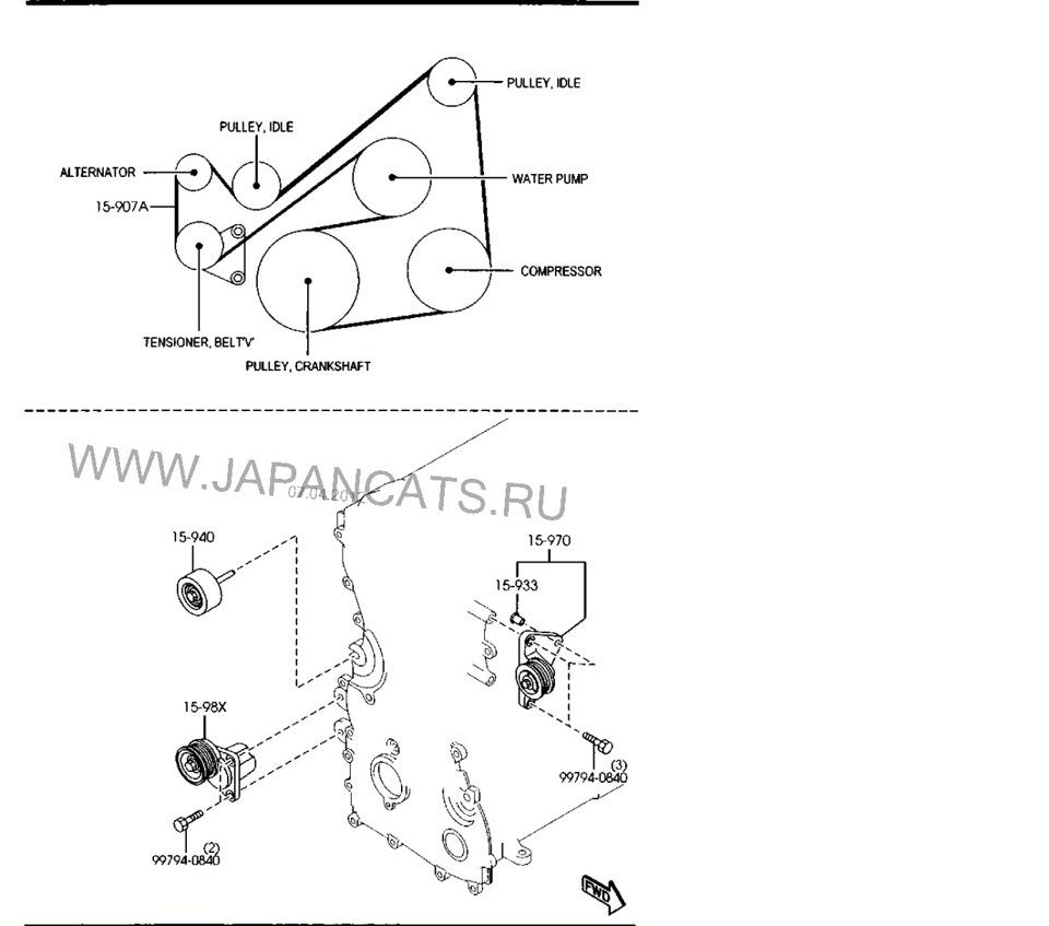 Схема установки приводного ремня фото 758
