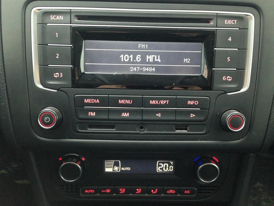 фольксваген поло аудиосистема