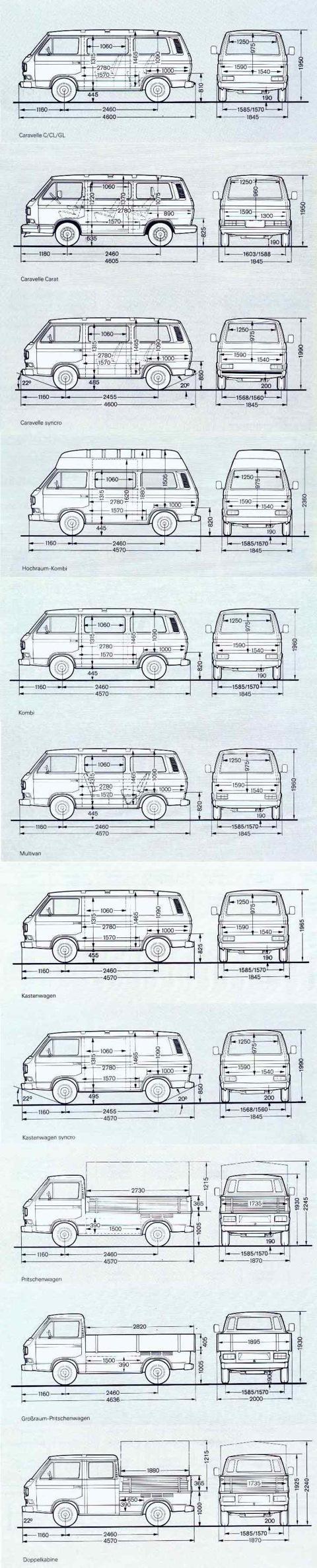 транспортер т3 габаритные размеры