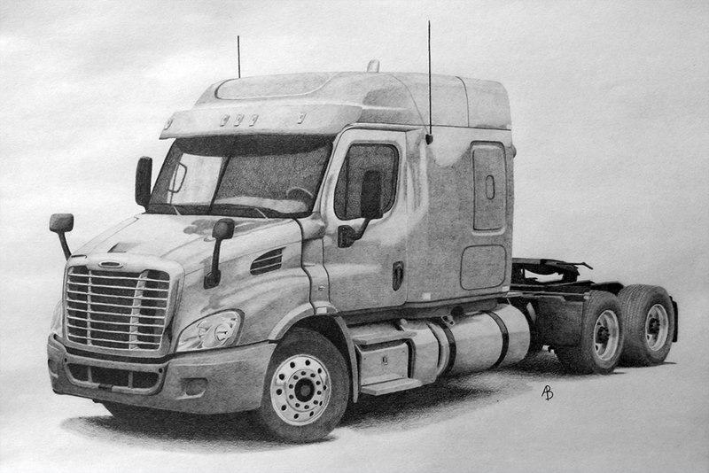 фото грузовик рисунку его