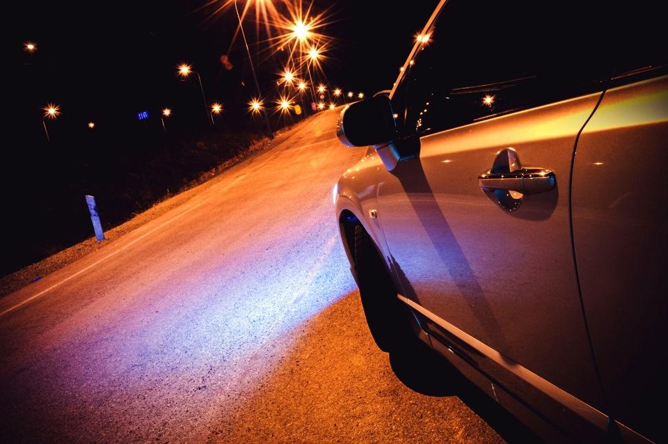 Фото в машина ночной прогулки