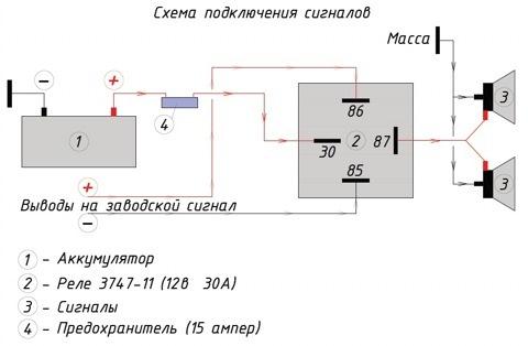 схема. Соединил провода