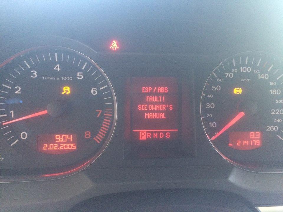 Esp/abs fault — Audi A6, 2 4 л , 2005 года на DRIVE2