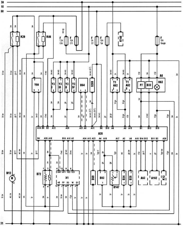 Pinout and wiring diagram of ecu logbook toyota corolla ii powered by google translate ccuart Images