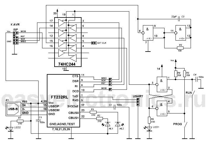 74Hc244 Программатор Для