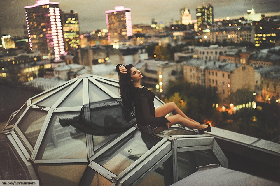 стиле идеи для фотосессии на крыше здания убедиться соблазнительности огромных
