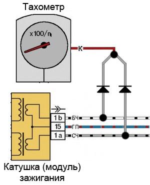 Схема подключения тахометра ваз 2107 инжектор